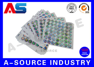 চীন Silver Background Custom Holographic Stickers Security Printing For Pharmaceutical Secure Packaging সরবরাহকারী