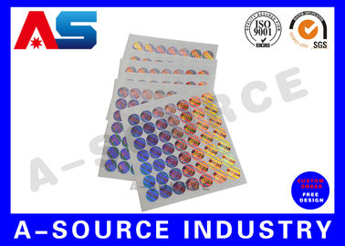 চীন Tamper Evident 3D Custom Holographic Stickers for steroid label box packaging সরবরাহকারী