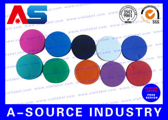 চীন Plain  Vial Glass Bottle Caps  Flip Off Lids For Serum Vials Various Colours সরবরাহকারী