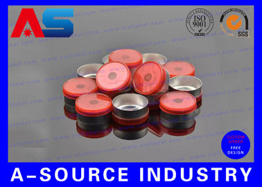 চীন Red Aluminum 20mm Flip Off Cap Chemistry Pharmaceutical Aluminium Bottle Caps সরবরাহকারী