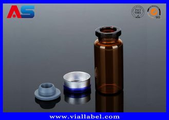 চীন Tubular Miniature Glass Bottles Blue Amber Glass Bottles With Secure Rubber Lids সরবরাহকারী