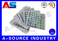 চীন Silver Background Custom Holographic Stickers Security Printing For Pharmaceutical Secure Packaging কারখানা