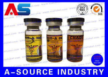 চীন Plastic Waterproof Steroid Vial Labels Strong Adhesive For Injection Vial পরিবেশক